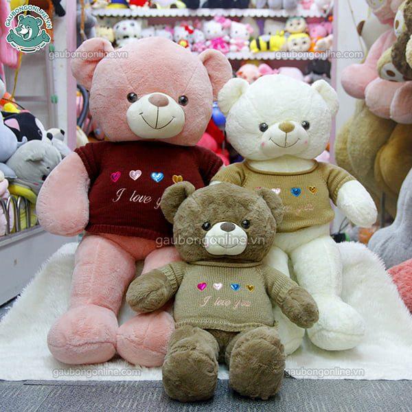 Gấu Bông Teddy Áo Len Love U