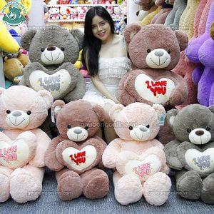 Gấu Bông Teddy Ôm Tim Love You