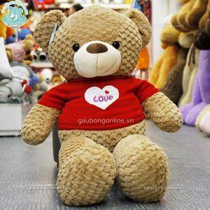 Gấu Bông Teddy Áo Tim Love