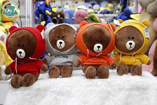Gấu Brown áo nỉ