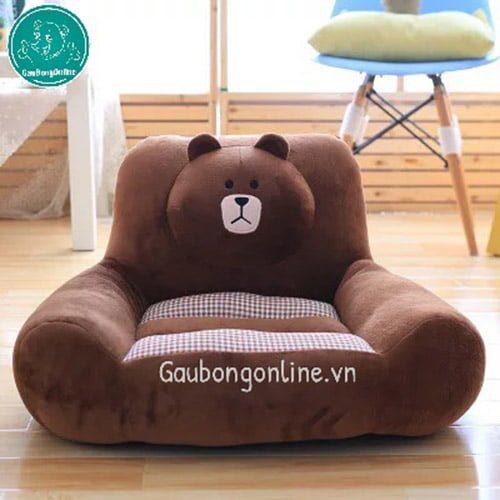 Gối ghế gấu Brown