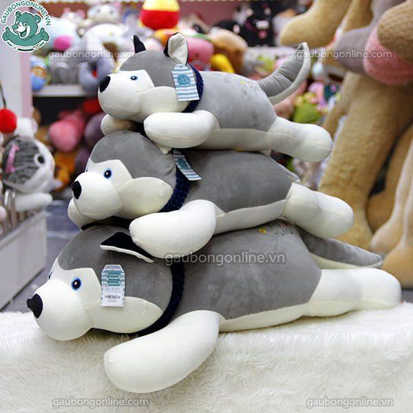 Chó Bông Husky Khăn Mềm