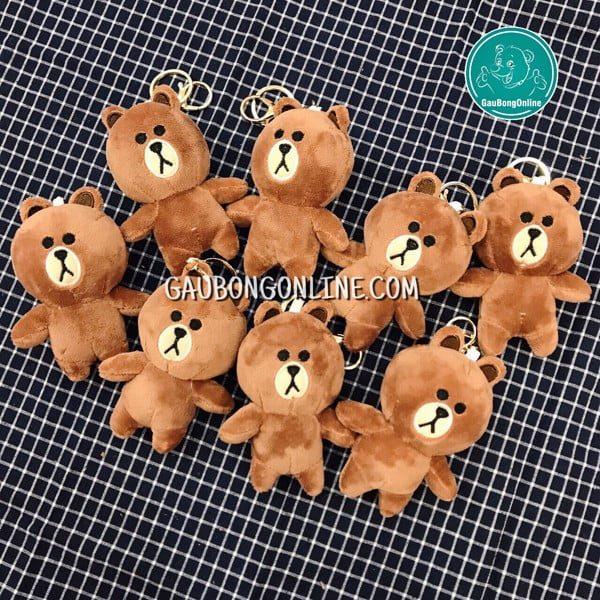 Móc chìa khóa gấu Brown