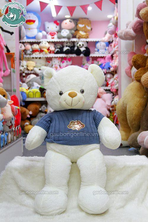 Gấu Bông Teddy Áo Len Mây