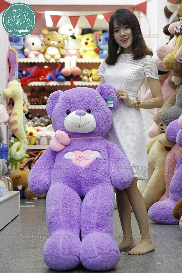gấu bông màu tím