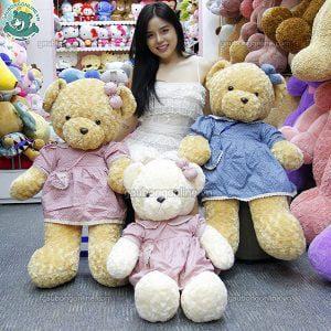 Gấu Bông Teddy Váy Hoa