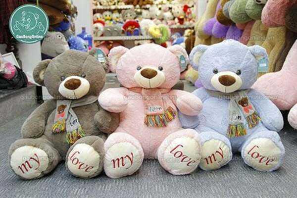gấu bông khăn my love