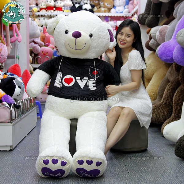 Gấu teddy áo đen love