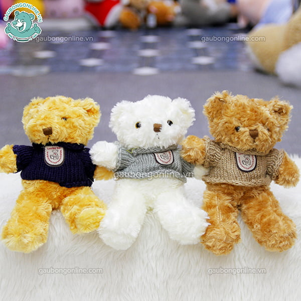 Gấu Teddy nhỏ Head & Tales lông xù