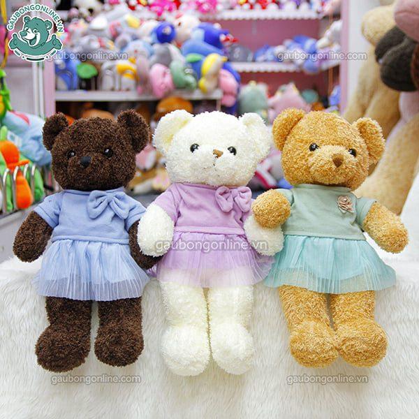 Gấu Teddy nhỏ Head & Tales mặc váy