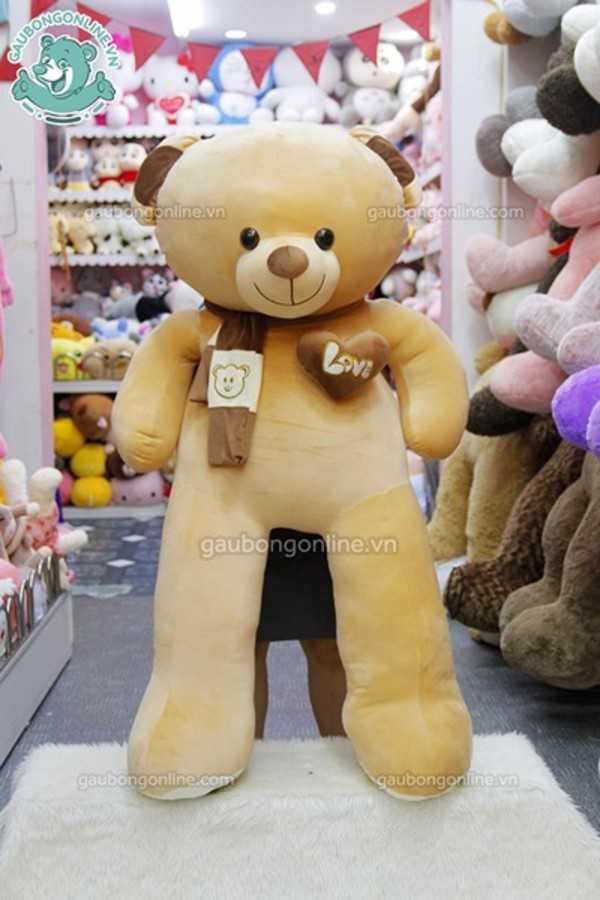teddy khăn tim