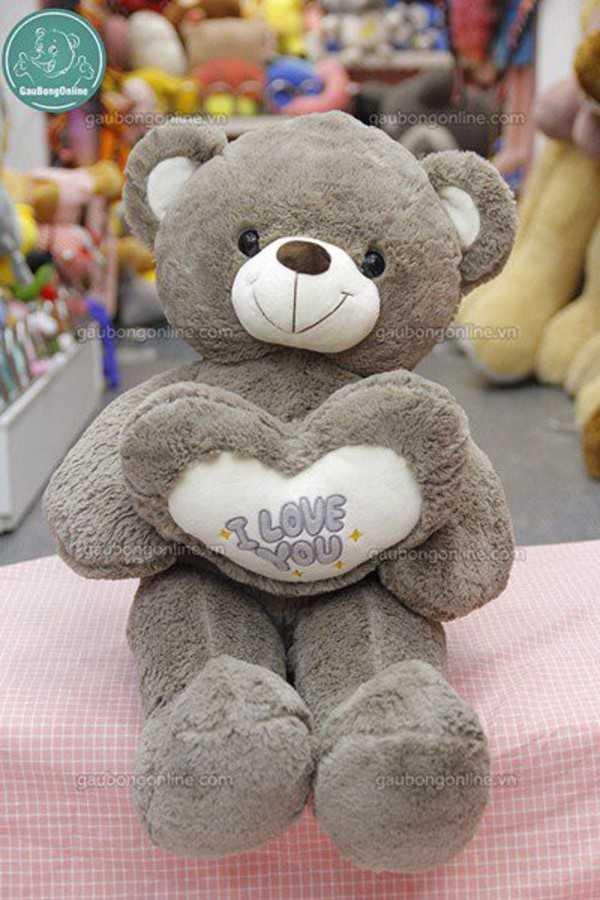 teddy ôm tim love you