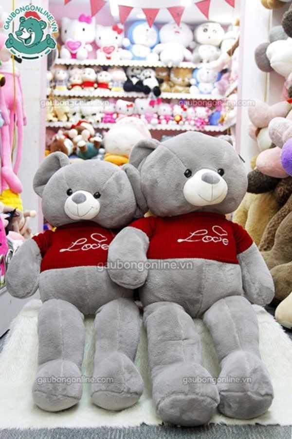 teddy xám áo love