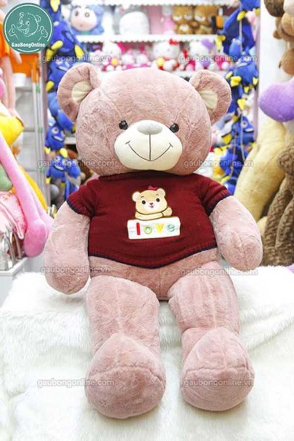 teddy áo len gấu love