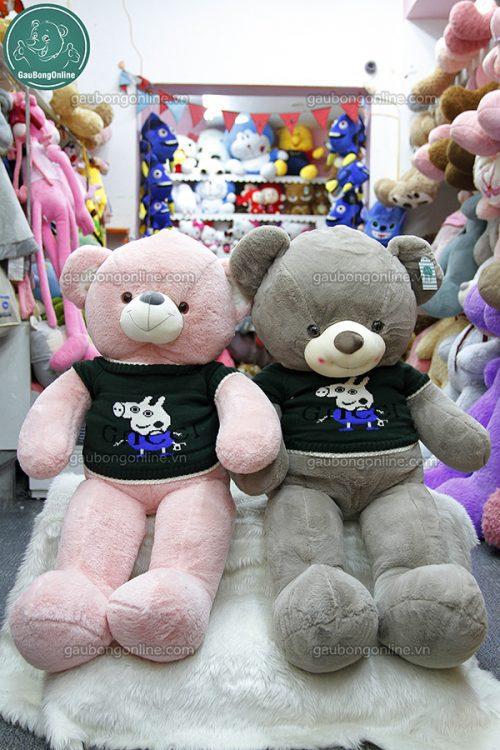 Gấu Bông Teddy Áo Peppa
