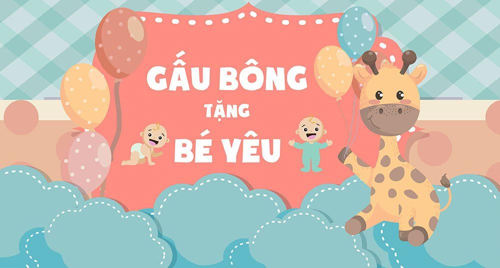Banner Gấu Bông Tặng Bé yêu
