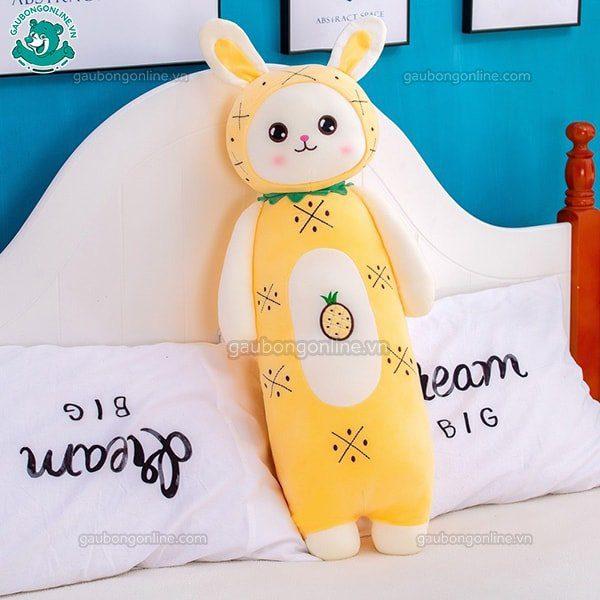 Gối ôm thú bông thỏ hoa quả vàng