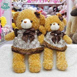 Gấu Bông Teddy Váy Nâu 60cm