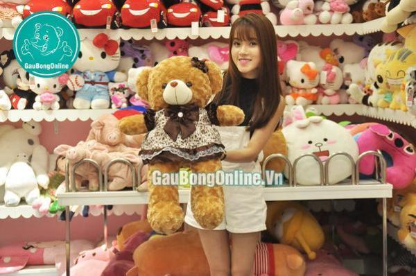 Gấu bông 60cm Teddy váy nâu