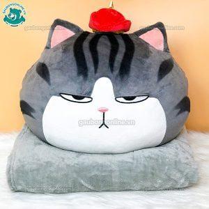 Gối Chăn Mền Gối Mèo Hoàng Thượng