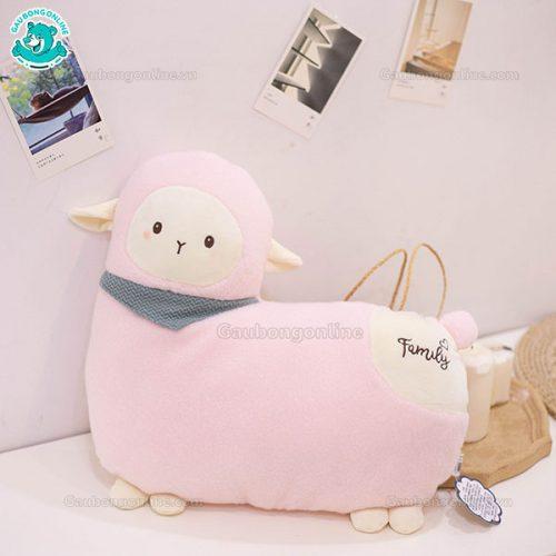 Gối Ôm Cừu Khăn