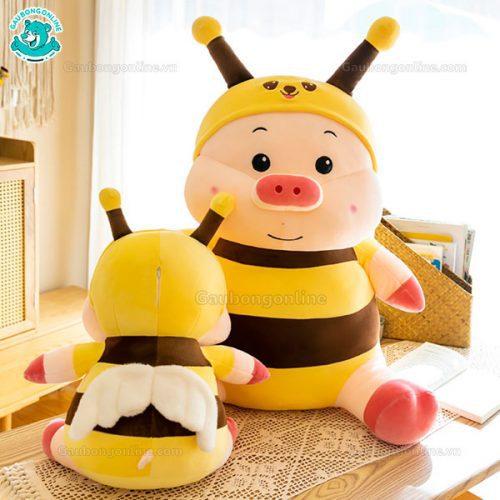 Gấu Bông Heo Cosplay Ong Ngồi