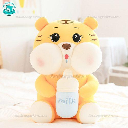 Hổ Bông Ôm Bình Sữa