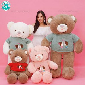 Gấu Bông Teddy Áo Len Baby Kiss